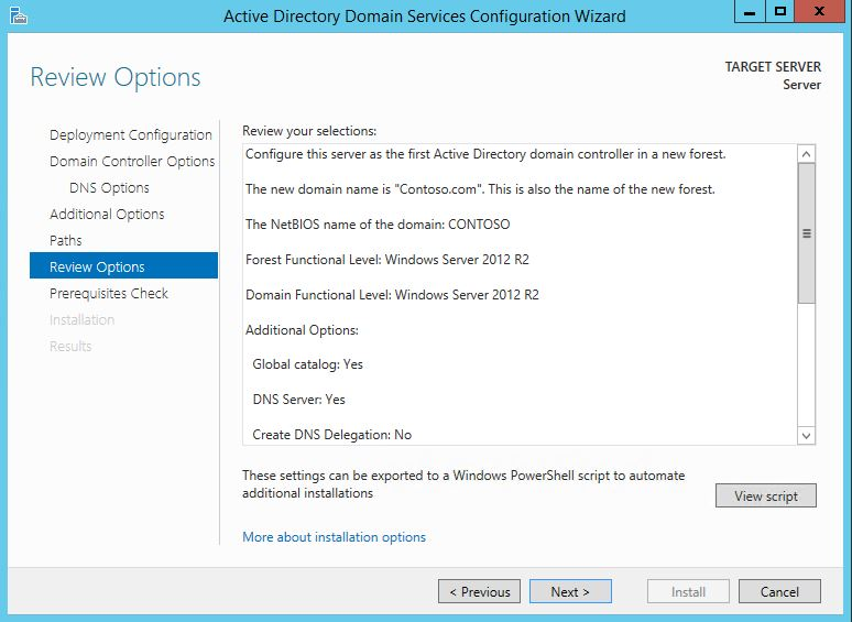 Install] Active Directory Domain Services | TheServerGeeks